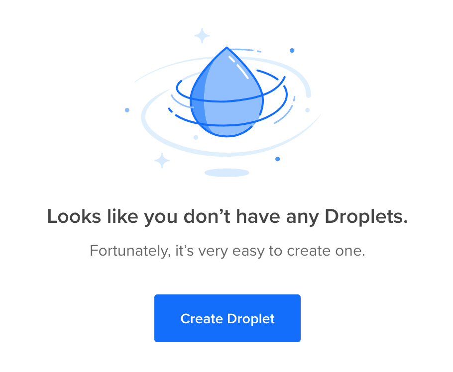 creating a droplet